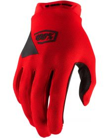 100% Ridecamp Youth Gloves Red