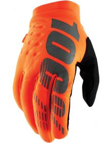 100% Brisker Youth Gloves Flo Orange