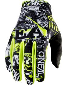 O'Neal 2020 Matrix Youth Glove Attack Black/Neon Yellow