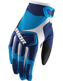 Thor 2019 Spectrum Youth Gloves Navy/Blue/White