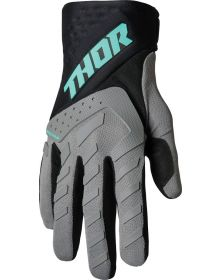 Thor 2022 Spectrum Youth Gloves Gray/Black/Mint