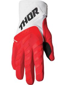 Thor 2022 Spectrum Youth Gloves Red/White