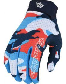 Troy Lee Designs Air Youth Glove Formula Camo Navy/Orange