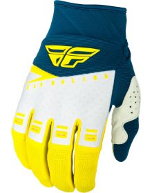 Fly Racing 2019 F-16 Gloves Yellow/White/Navy
