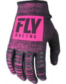 Fly Racing 2019 Kinetic Noiz Youth Gloves Neon Pink/Black