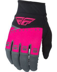 Fly Racing 2019 F-16 Youth Gloves Neon Pink/Black/Grey