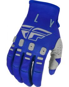 Fly Racing 2021 Kinetic K121 Youth Gloves Blue/Navy/Grey