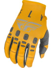 Fly Racing 2021 Kinetic K121 Youth Gloves Mustard/Stone/Grey