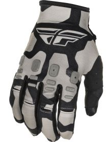 Fly Racing 2021 Kinetic K221 Youth Gloves Black/Grey