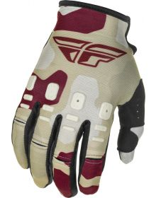 Fly Racing 2021 Kinetic K221 Youth Gloves Stone/Berry