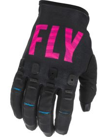 Fly Racing 2021 Kinetic SE Youth Gloves Black/Pink/Blue