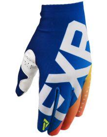 FXR 2020 Slip-On Lite Youth MX Glove Blue/Navy Fade