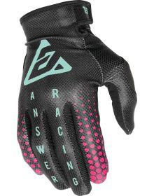 Answer 2021 AR1 Swish Womens Gloves Black/Berry/Seafoam