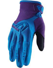 Thor 2020 Spectrum Womens Glove Blue/Purple