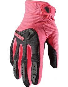 Thor 2021 Spectrum Womens Gloves Black/Pink