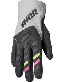 Thor 2022 Spectrum Womens Gloves Light Gray/Charcoal