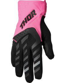 Thor 2022 Spectrum Womens Gloves Flo Pink/Black