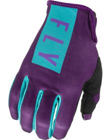Fly Racing 2021 Lite Womens Gloves Purple/Blue