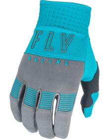 Fly Racing 2021 F-16 Womens Gloves Grey/Blue