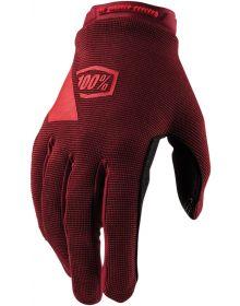 100% Ridecamp Womens Gloves Brick
