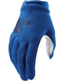 100% Ridecamp Womens Gloves Blue