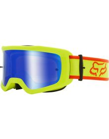 Fox Racing Main Barren Youth Goggle Spark Flo Yellow
