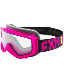 FXR Throttle Youth Goggle Fuchsia/Black/Hi Vis