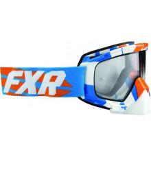 FXR Mission MX Google Orange/Cyan