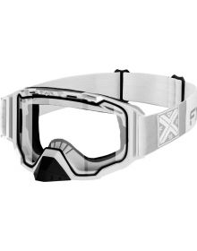 FXR Maverick Goggle White W/Clear Lens