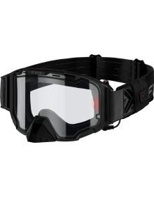 FXR Maverick Electric Goggle W/Battery Pack Black Ops W/Clear Lens