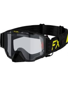 FXR Maverick Electric Goggle W/Battery Pack Hi-Vis/Black W/Clear Lens