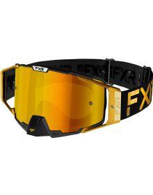 FXR 2021 Pilot LE MX Goggle Gilden W/Gold Lens
