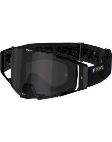 FXR 2021 Pilot MX Goggle Blackout W/Smoke Lens