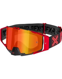 FXR 2021 Pilot MX Goggle Red W/Inferno Lens