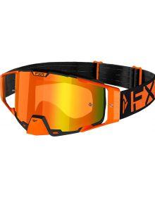FXR 2021 Combat MX Goggle Orange W/Bronze Lens