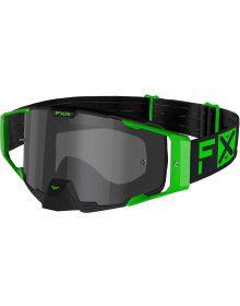 FXR 2021 Combat MX Goggle Lime W/Smoke Lens