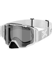 FXR 2021 Combat MX Goggle White W/Smoke Lens