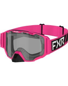 FXR 2022 Maverick Clear Youth Snowmobile Goggles E-Pink