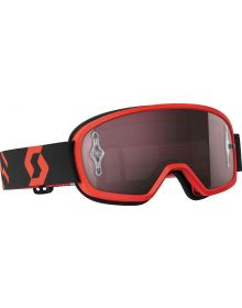 Scott Buzz Pro Youth Goggle Red/Black W/Silver Chrome Lens