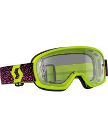 Scott Buzz Pro Youth Goggle Yellow/Pink W/Clear Lens