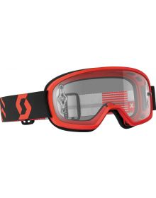 Scott Buzz Pro Youth Goggle Red/Black W/Clear Lens