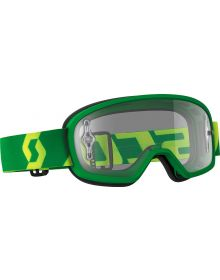 Scott Buzz Pro Youth Goggle Green/Yellow W/Clear Lens