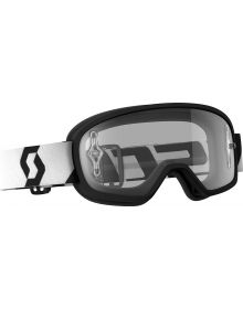 Scott Buzz Pro Youth Goggle Black/White W/Clear Lens