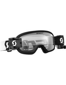 Scott Buzz Pro WFS Youth Goggle Black/White W/Clear Lens