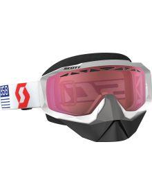 Scott Hustle Snow Goggles White/Red W/Rose Lens