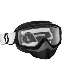 Scott Split OTG Snow Goggles Black W/Clear Lens