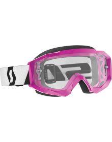 Scott Hustle-X MX Goggles Pink/Black W/Clear Lens