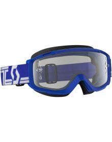 Scott Split OTG Over The Glasses MX Goggles Blue/White