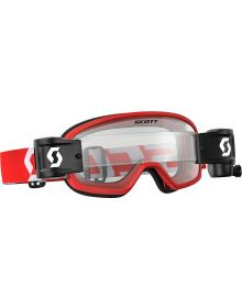 Scott Buzz Pro WFS Youth Goggle Red/White W/Clear