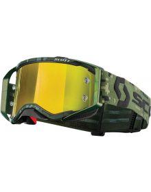 Scott Prospect MX Goggle Military Green Camo W/Yel